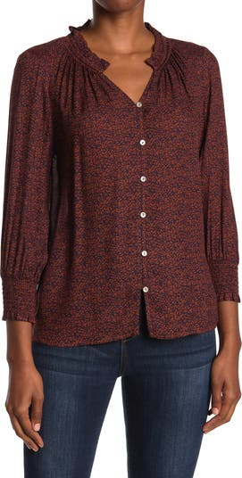 Блуза с открытыми рукавами и сборками Daniel Rainn