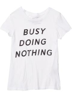 Винтажная хлопковая футболка Busy Doing Nothing (для больших детей) The Original Retro Brand Kids