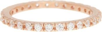 Кольцо Eternity с покрытием из розового золота 14 карат с кристаллами Swarovski ADORNIA