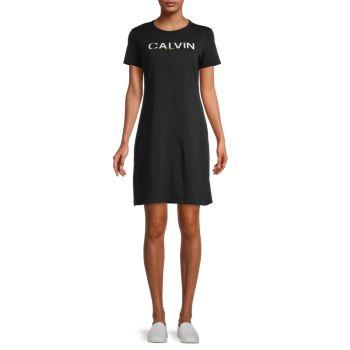 Платье-футболка с логотипом Calvin Klein