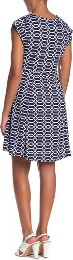 Платье с завязками на талии и принтом SUPERFOXX