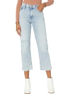 Реми с высокой посадкой Straight Croppd in Two Hearts Hudson Jeans