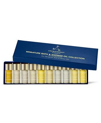 Миниатюрная коллекция масел для ванной и душа Travel and Gift Set по 10, 3 мл. Aromatherapy Associates