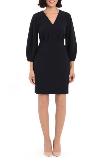 Платье с V-образным вырезом и рукавами 3/4 Donna Morgan