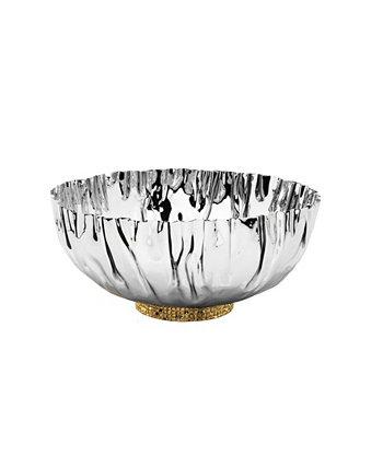 Мятая чаша из нержавеющей стали с мозаичной основой золотистого цвета Classic Touch