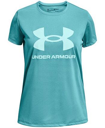 Футболка с короткими рукавами Big Girls Tech Sportstyle с большим логотипом Under Armour