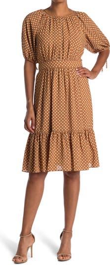 Многослойное платье в горошек Maggy London