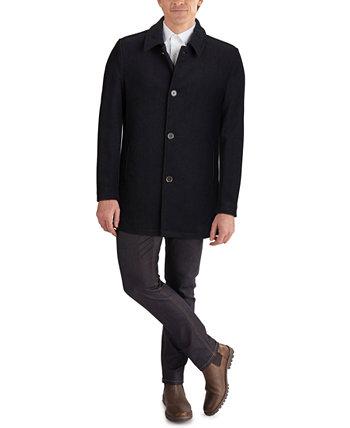 Мужское автомобильное пальто классического кроя с отделкой из искусственной кожи Cole Haan