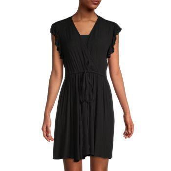 Мини-платье с морщинистой текстурой ELAN