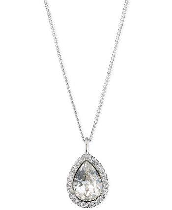 """Ожерелье с подвеской Pavé & Stone Pear, удлинитель 16 """"+ 3"""", создано для Macy's Givenchy"""