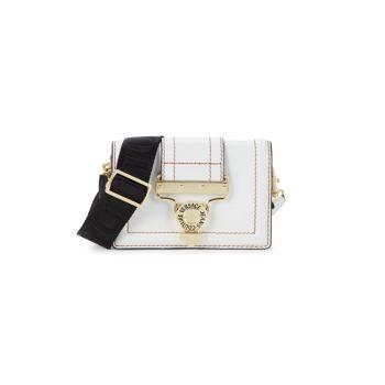 Кожаная сумка-трансформер через плечо Versace Jeans Couture