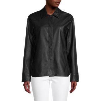 Куртка из искусственной кожи с пуговицами спереди Lea & Viola