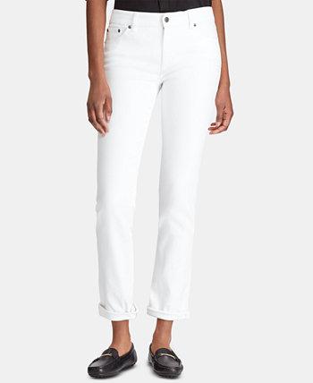 Миниатюрная джинсовая ткань Premite Straight Straight с короткими рукавами Ralph Lauren
