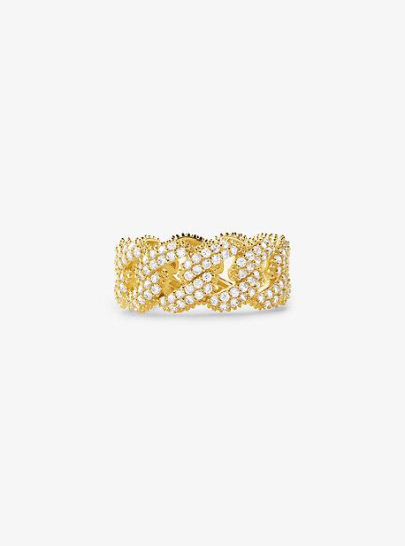 Кольцо-бордюр с паве из стерлингового серебра с покрытием из драгоценных металлов Michael Kors