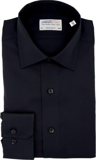 Классическая рубашка из поплина без морщин стандартного кроя Lorenzo Uomo