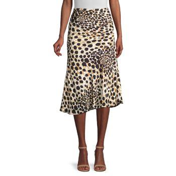 Шелковая юбка Haidee с пятнами Elie Tahari
