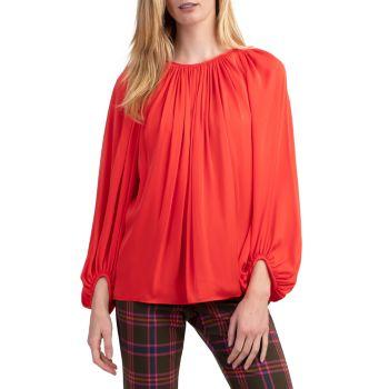 Блуза Ali из смесового шелка с драпировкой Trina Turk