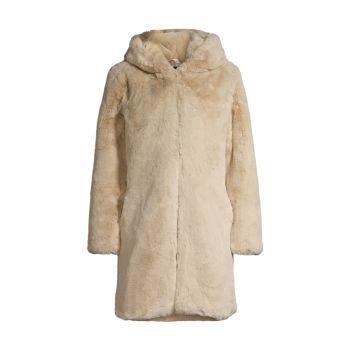 Пальто Myra с капюшоном из искусственного меха APPARIS