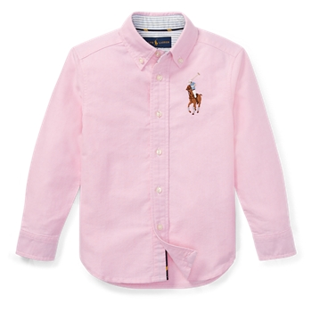 Хлопковая оксфордская рубашка Big Pony Ralph Lauren