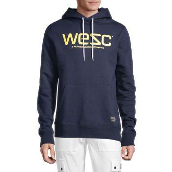Худи из хлопка с логотипом WeSC