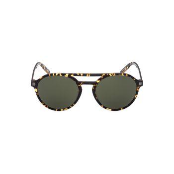 Пластиковые круглые солнцезащитные очки 54 мм Zegna