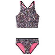 Girls 7-16 Spiderback Midkini & Bottoms Swimsuit Set Nike