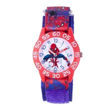 Детские красные пластиковые часы Marvel Spider-Man Marvel