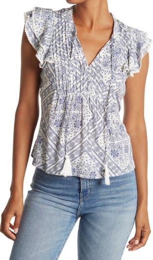 Блуза с оборками на рукавах American Rag