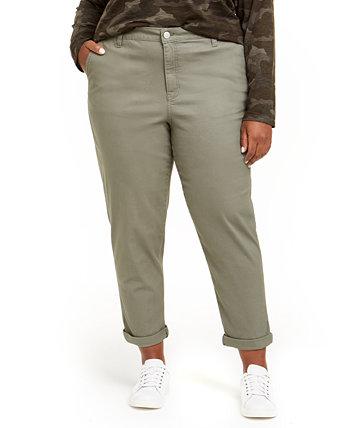 Модные свободные брюки большого размера с высокой посадкой Celebrity Pink