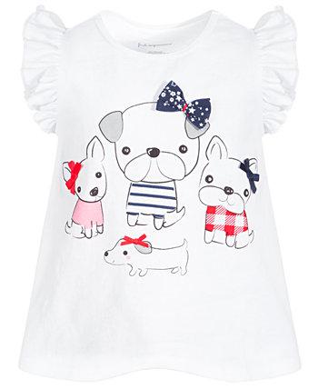 Хлопковая туника Baby Girls Puppy Pals, созданная для Macy's First Impressions