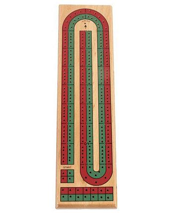 Коллекция классических игр - Цветной Криббедж из 2 дорожек John N. Hansen Co.