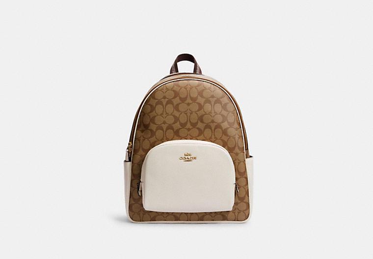 Рюкзак Large Court из фирменной ткани COACH