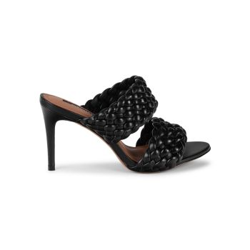 Kayla Leather Heeled Sandals BCBGMAXAZRIA