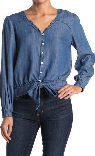 Рубашка из шамбре с завязками на подоле Velvet Heart