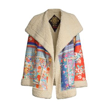 Anna Faux Suede Patchwork Jacket Johnny Was