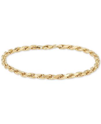 Мужской браслет-цепочка (4 мм) из золота 585 пробы, производство Италия Italian Gold