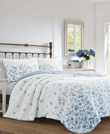 Комплект одеяла Flora Blue, King Laura Ashley