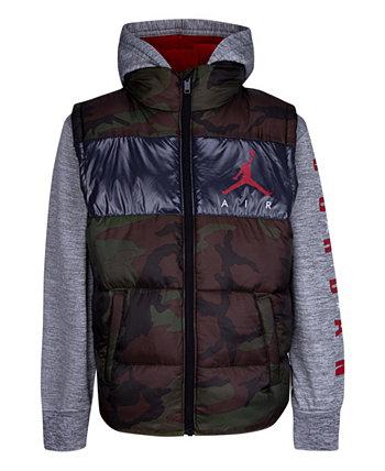 Куртка Colorblock 2Fer для маленьких мальчиков Jordan
