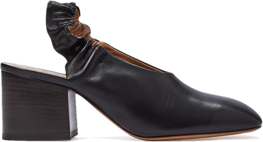 Легкий квадратный носок с эластичным ремешком на пятке MARNI