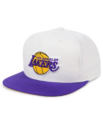 Двухцветная классическая бейсболка Los Angeles Lakers с бахромой Mitchell & Ness