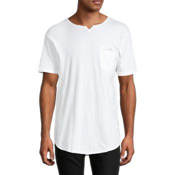 Eldoris Notched Crewneck T-Shirt KINETIX