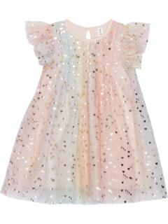 Платье с развевающимися рукавами Unicorn Hearts (Младенцы / Малыши) HUXBABY