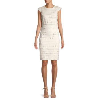 Bandage Sheath Dress Halston Heritage