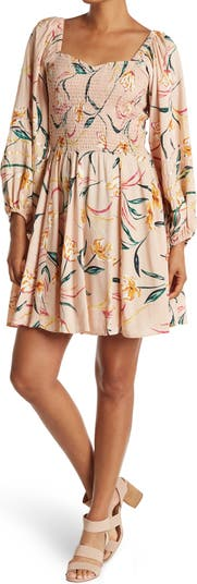Long Sleeve Sweetheart Neckline Dress Angie