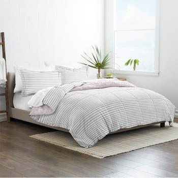 Home Collection Двустороннее одеяло с альтернативными прессованными цветами из пуха премиум-класса - Розовый - Полный / Королева IENJOY HOME