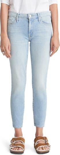 Укороченные джинсы скинни с высокой талией The Looker MOTHER