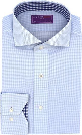 Классическая рубашка с принтом в мелкую сетку и отделкой Trim Fit Lorenzo Uomo