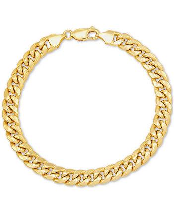 "Браслет-цепочка Miami Cuban Link 7-1 / 2 ""из 10-каратного золота Italian Gold"