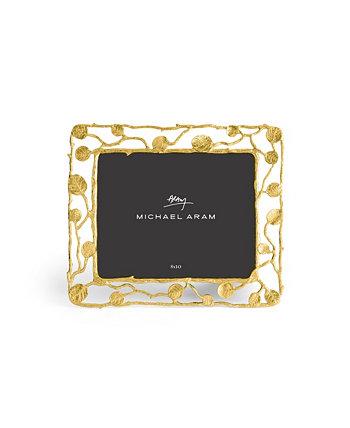 Золотая рамка с ботаническим листом 8 x 10 MICHAEL ARAM