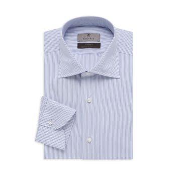 Классическая рубашка в морскую полоску Canali